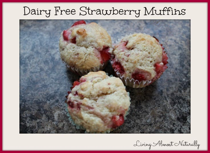Dairy Free Strawberry Muffins