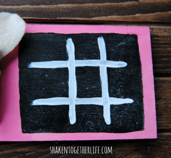 Chalkboard paint is the base for this cute Valentine idea!