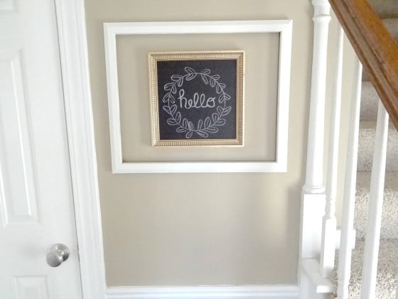 Easy Entry Way Makeover Pretty DIY home decor idea!