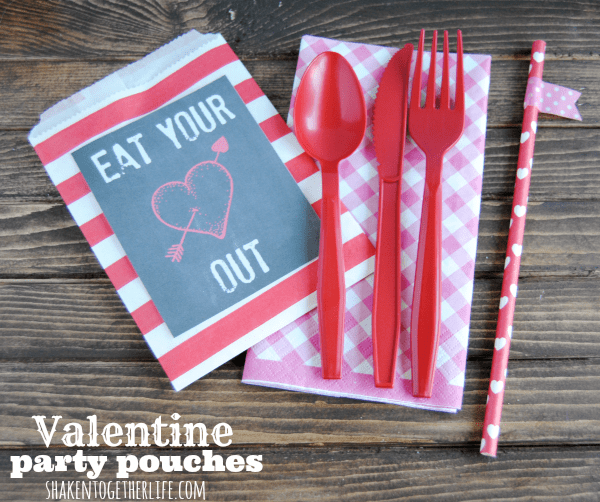 Eat Your Heart Out Valentine party pouches at Shaken Together