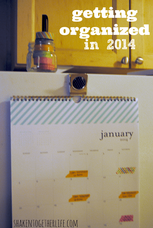 Organize your calendar with washi tape - getting organized in 2014!