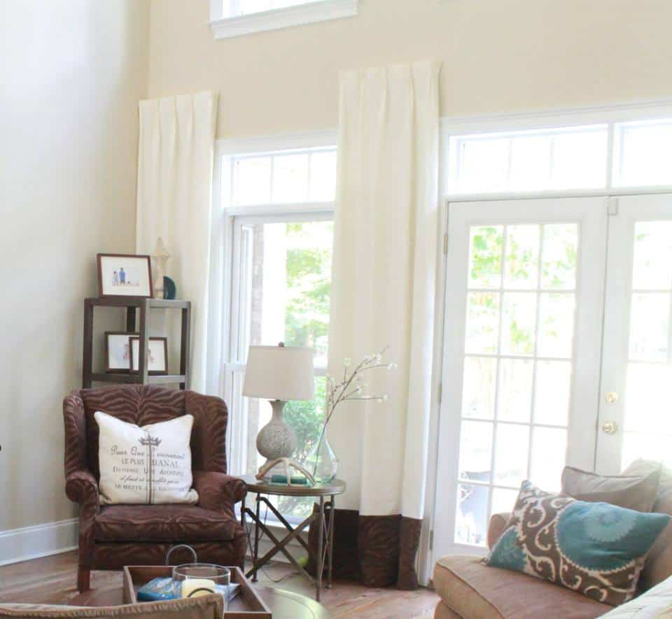 DIY hidden curtain rods