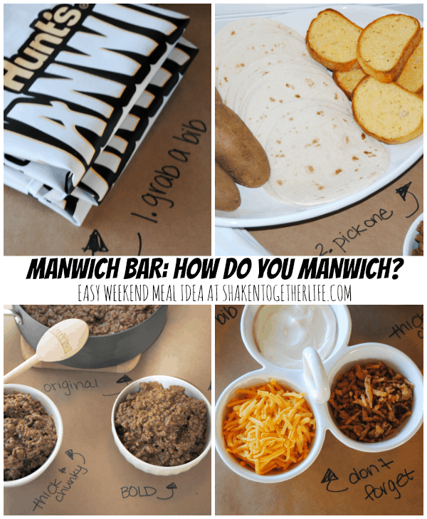 Our fun and easy weekend meal idea - a Manwich bar!!