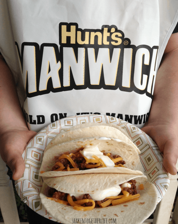 Sloppy tacos - one option at our weekend Manwich bar!