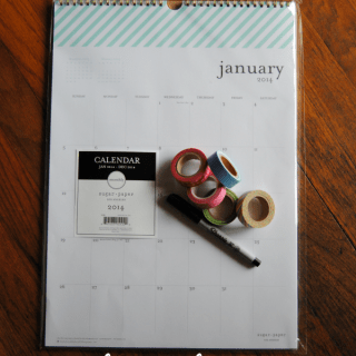 How to organize your calendar with washi tape!