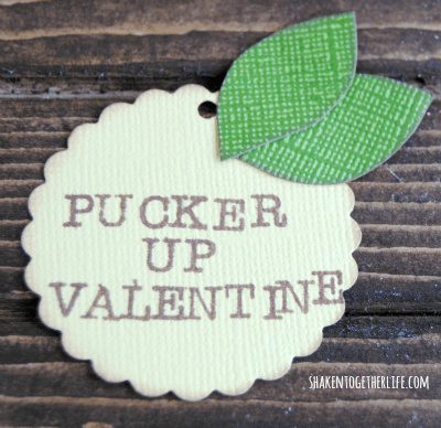 Pucker Up valentine - paper lemon tag for a lemon drop Valentine!