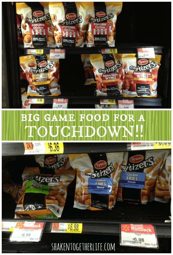 Big game food for a tasty touchdown at Walmart!