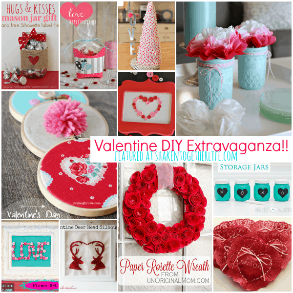 DIY Valentine Ideas featured at shakentogetherlife.com