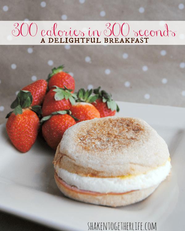 Jimmy Dean Delights + fresh fruit = 300 calorie breakfast in 300 seconds!