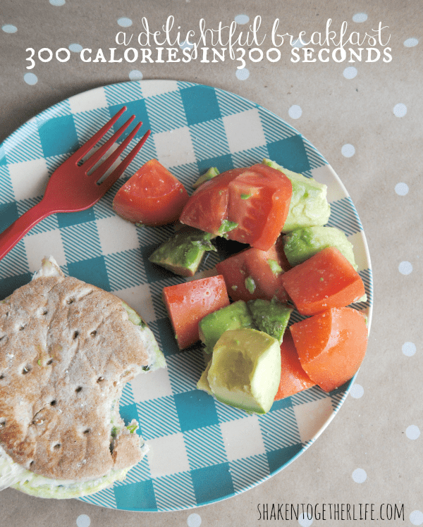 300 calorie breakfast in 300 seconds - easy and delicious!
