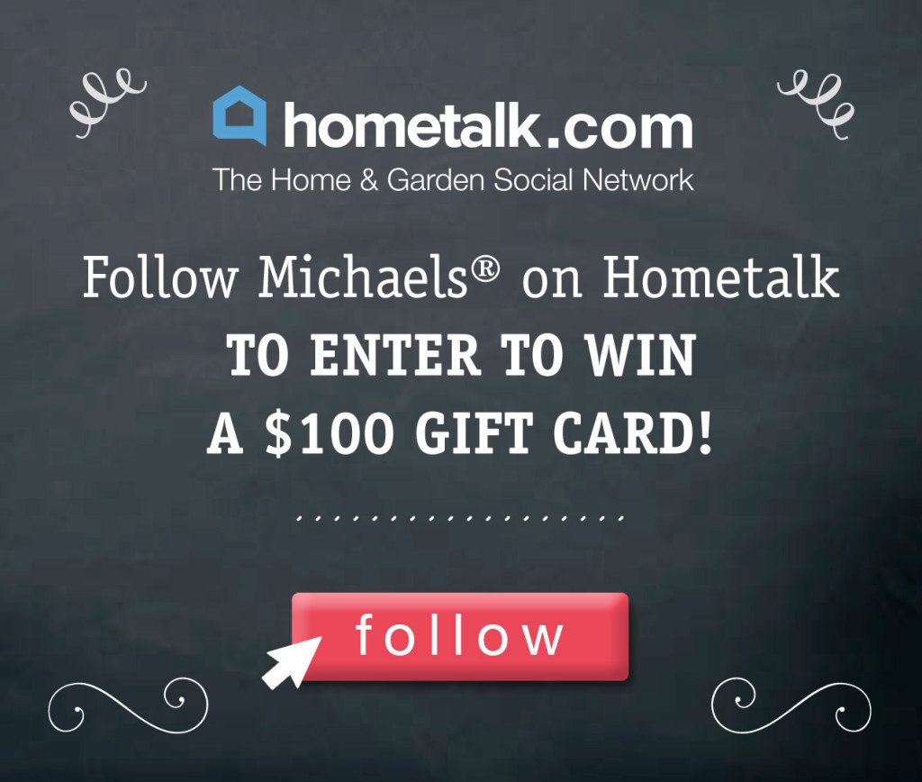 Michaels Hometalk giveaway