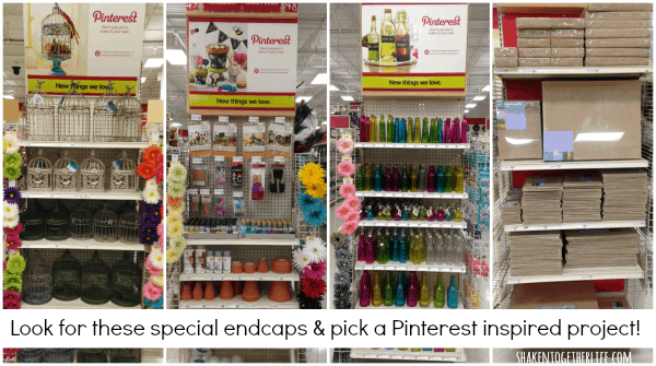 Pinterest project endcaps at Michaels