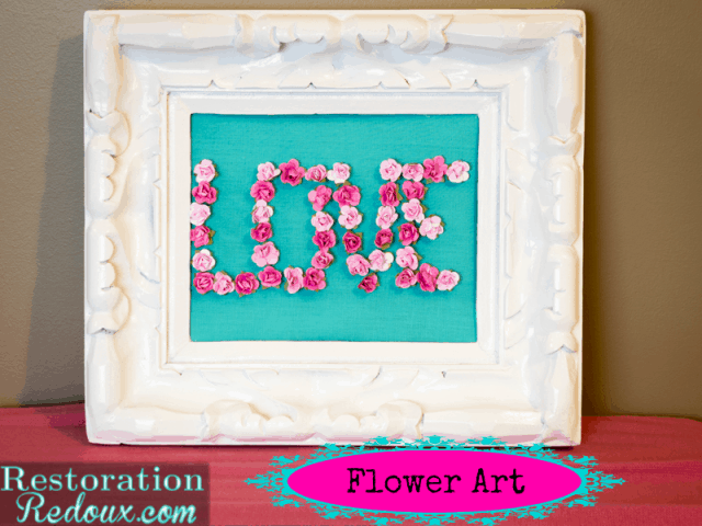 LOVE flower art