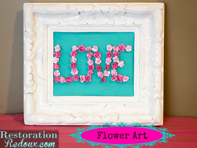 LOVE flower art