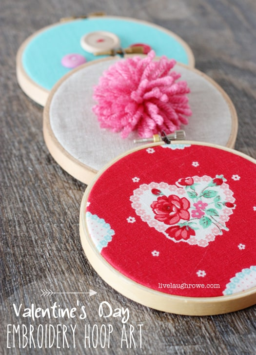 Valentine Hoop Art