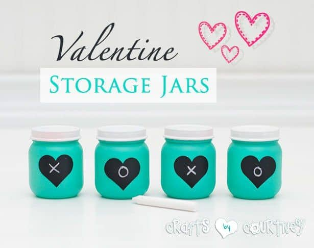 V Valentine storage jars