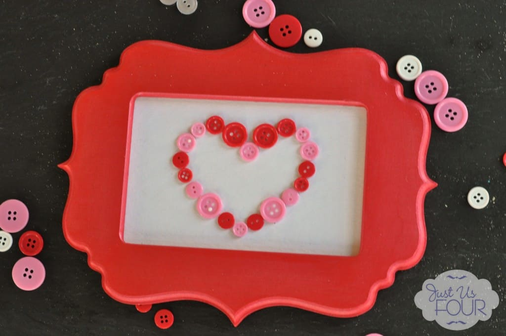 Valentine Button Art