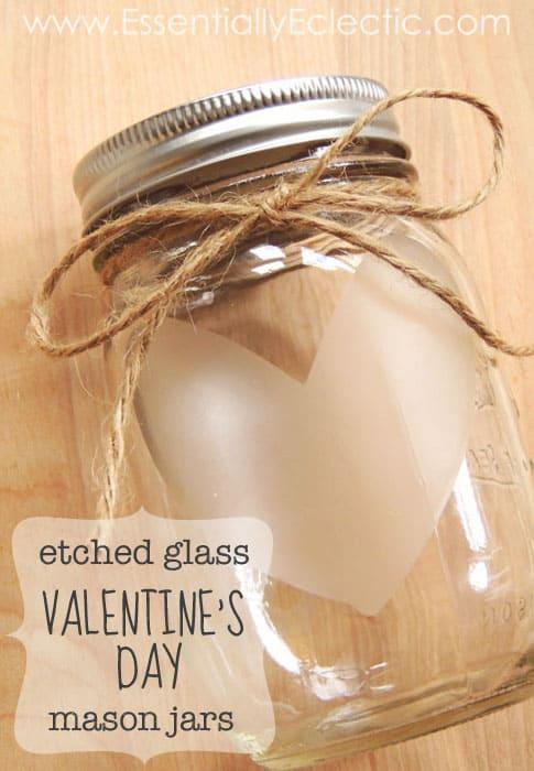 etched glass jar
