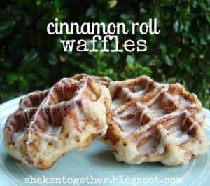 Quick & easy cinnamon roll waffles!