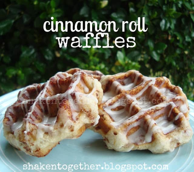 Quick & easy cinnamon roll waffles!