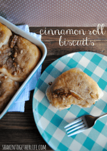 Easy pecan cinnamon roll biscuits - these start with refrigerated biscuits!