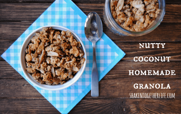 Easy nutty coconut homemade granola - baked in 15 minutes!