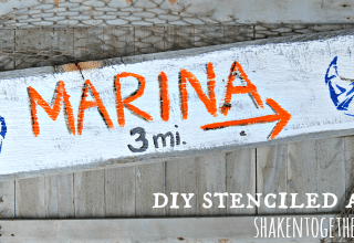 Make a stenciled anchor sign - perfect for nautical home decor