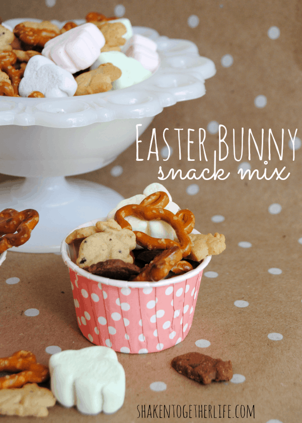 Easter Bunny snack mix - everything is bunny shaped!