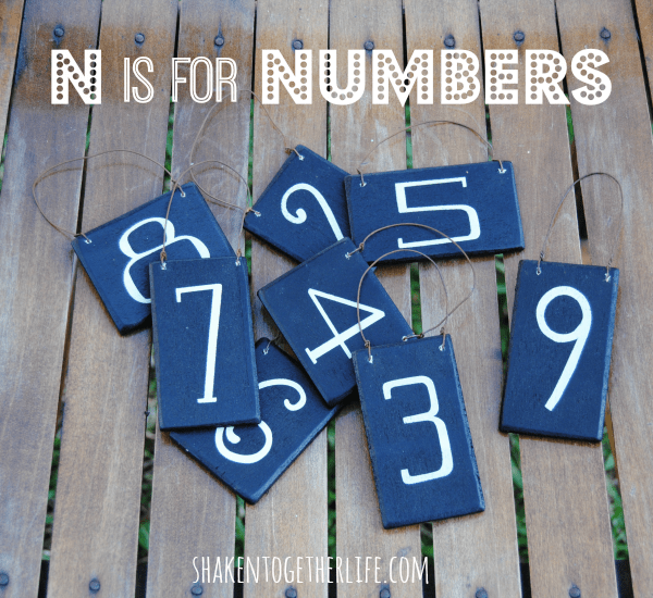 N is for Numbers! Come see what I made with these wooden numbers!