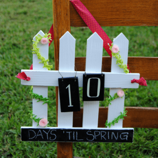 A picket fence countdown chalkboard is perfect for Spring, Easter, birthdays and more!