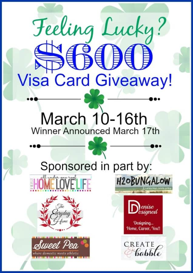 Enter to win a $600 Visa card in the Pot O' Gold giveaway!