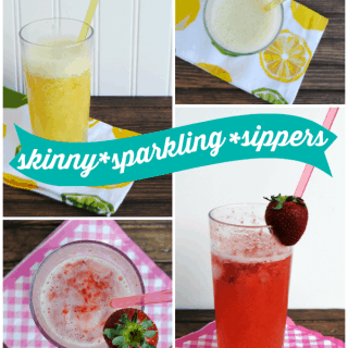 Skinny sparkling sippers - two seriously delicious, lower calorie drinks for Spring!