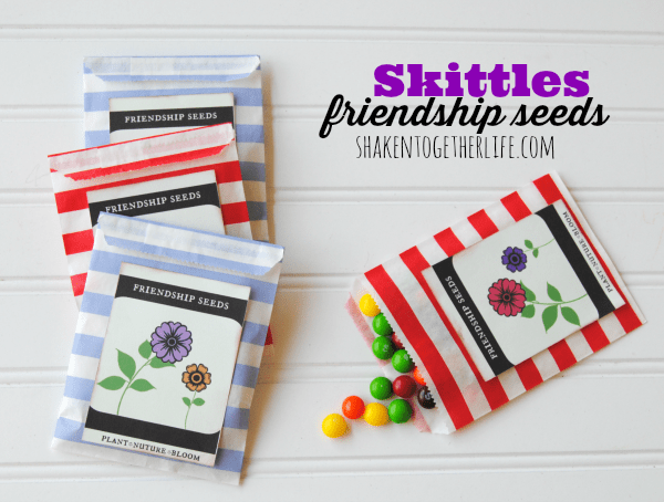 Skittles friendship seeds and FREE printable!