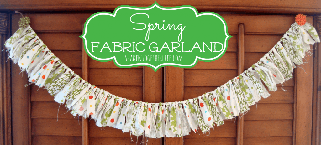 Spring fabric banner main
