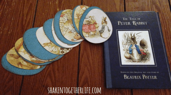Use a $1 book to make an Easter garland that tells the Tale of Peter Rabbit!