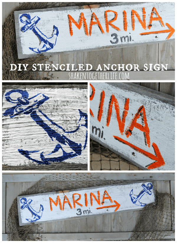 DIY stenciled anchor sign tutorial