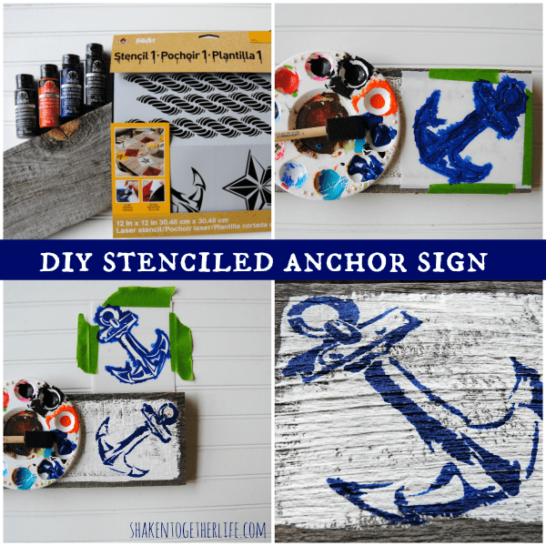 How to make a DIY stenciled anchor sign and tips on hand lettering