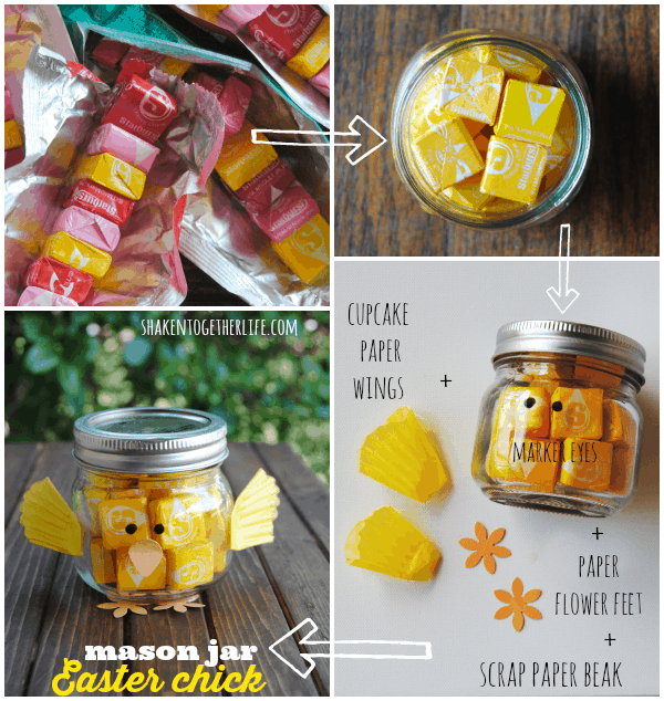 A trio of sweet spring easter gifts and seed packet printable how to make a mason jar easter chick negle