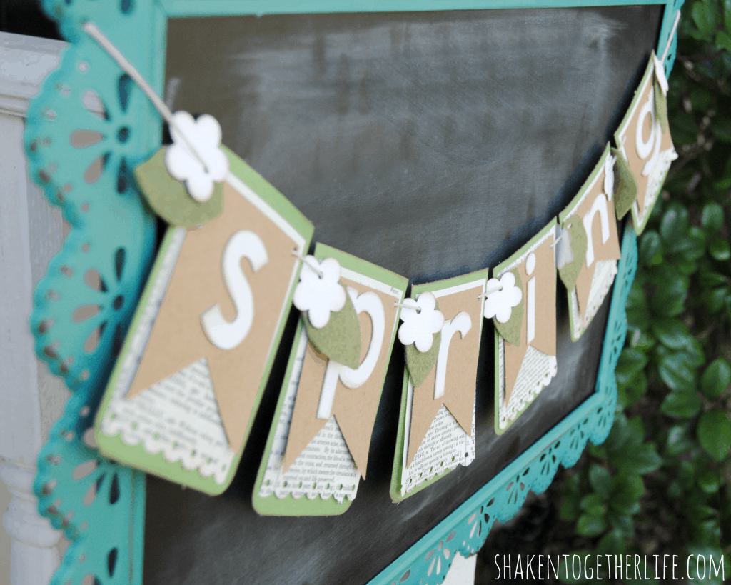 Pretty layered paper Spring banner