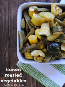 Beautifully roasted Spring vegetables bursting with lemon!