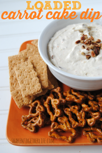 Sweet dip loaded with all of the best things in a carrot cake!