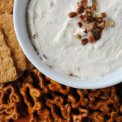 Loaded carrot cake dip - stuffed with all of the best things in carrot cake!