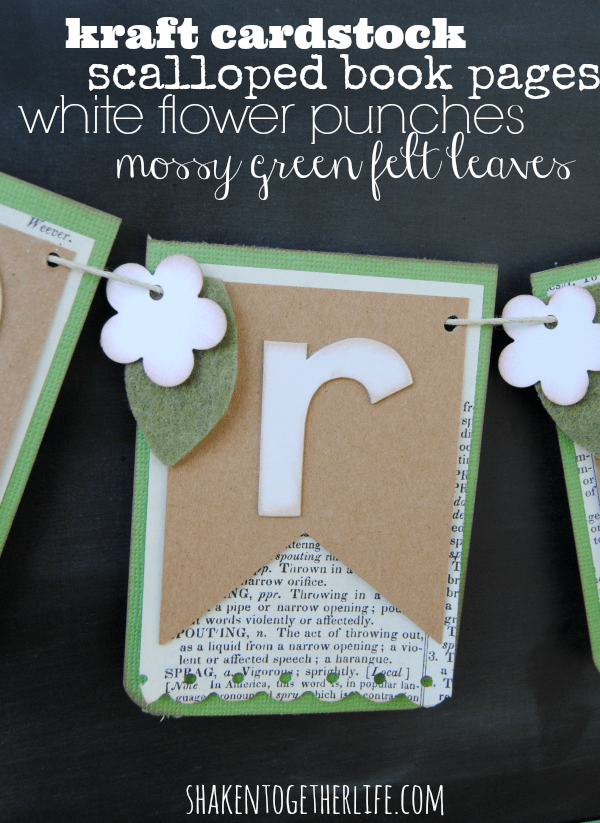 The lovely layers of paper and felt that make up this layered paper Spring banner!