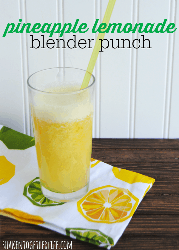 Pineapple lemonade blender punch -