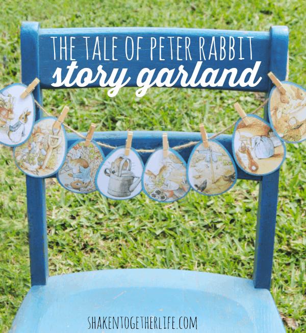 Easter garland using a $1 Peter Rabbit book!