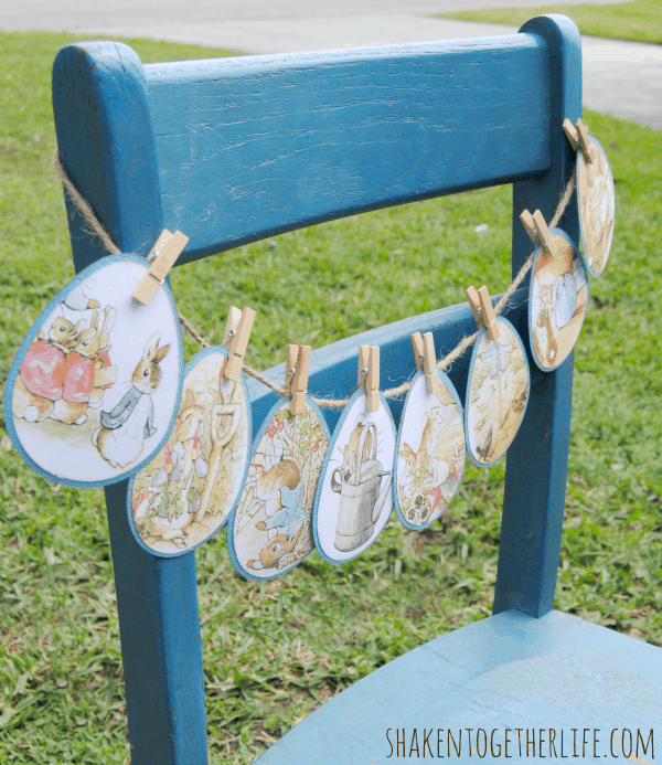 The Tale of Peter Rabbit - a story garland made from a $1 book!