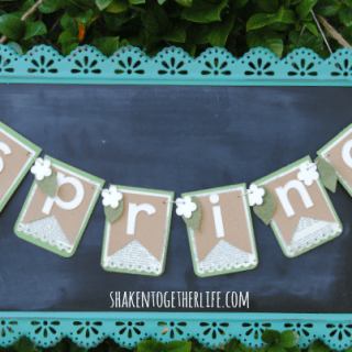 Make a Pretty Layered Paper Spring Banner