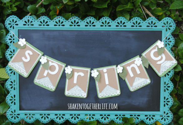 Welcome Spring! Make a pretty layered paper Spring banner!