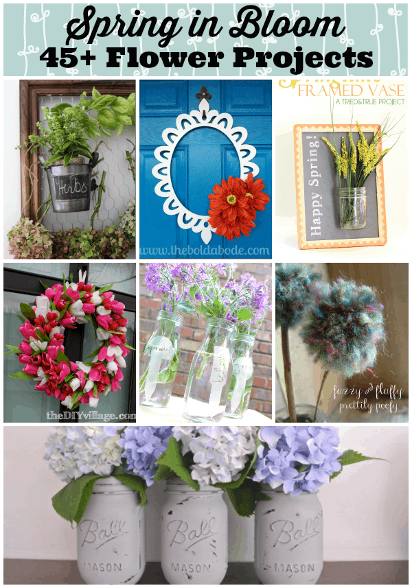Spring is in bloom! More than 45 gorgeous Spring flower projects!