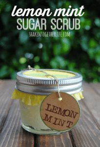 Lemon mint sugar scrub is a fantastic Mothers Day gift!